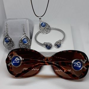 Accessories - Los Angeles Rams Sunglasses and Necklace set